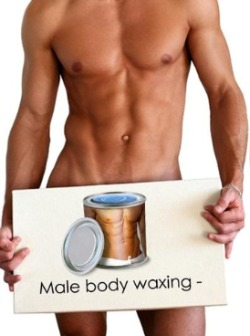 Male brazilian wax procedure